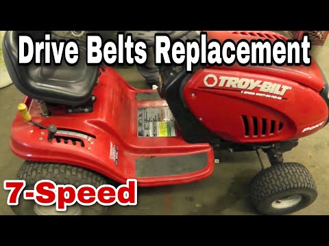 How To Replace The Drive Belts On A Troy-Bilt/Yard Machine 7-Speed Riding Mower with Taryl