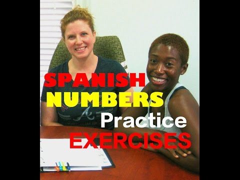 Hear Spanish Numbers Fast!  Practice  numbers 0-10 Exercises! Count in Spanish