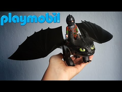 BEST TOOTHLESS TOY? Toothless & Hiccup Playmobil Set - Review