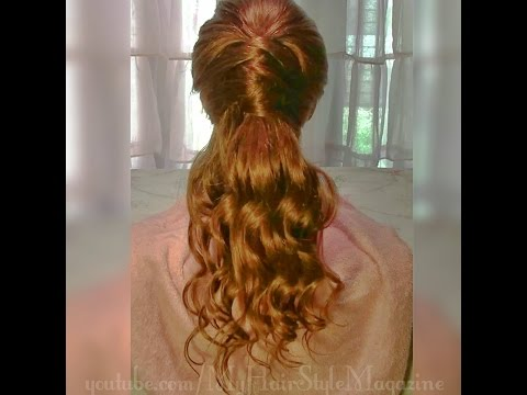 Easy Half Up Half Down Criss Cross Prom Hairstyle Tutorial
