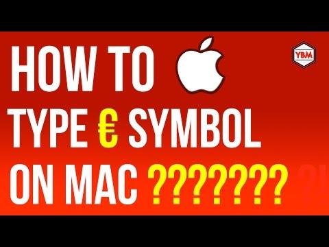 How to type euro symbol on Mac OSX