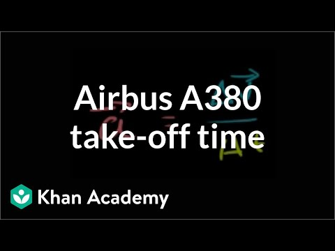 Airbus A380 take-off time | One-dimensional motion | Physics | Khan Academy