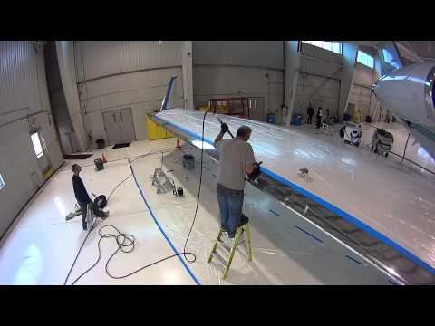 Restoration Leading Edge Polishing, Gulfstream GIV
