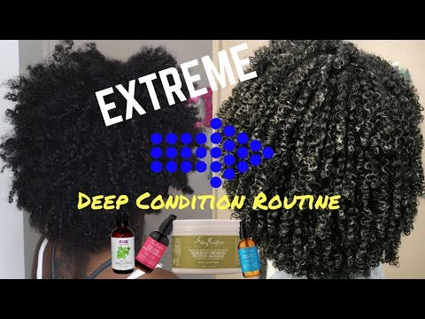 EXTREME Deep Condition Routine | Dry→Moisturized Curls!!!
