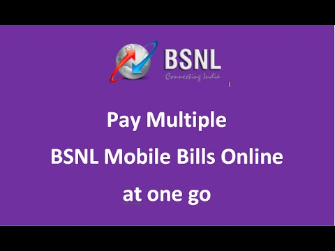BSNL Mobiles bills online payment - Multiple bills payment at one go