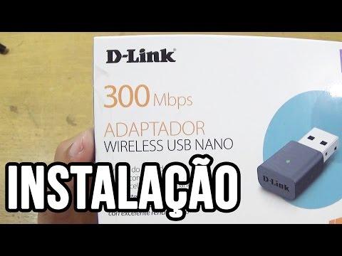 Unboxing e instalação adaptador D-Link DWA-131 Wireless USB (Rede sem fios)