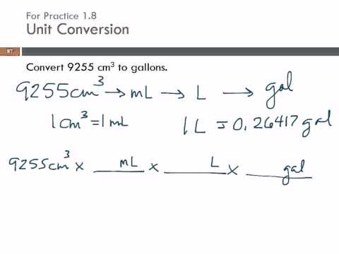 Unit Conversion: cubic centimeters to gallons