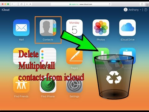 How to delete Multiple or all Contacts from Icloud | Iphone Tips