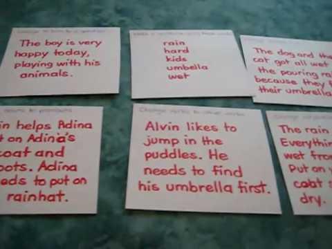 Grade 1 - Language Arts, Reading, Grammar, Rain theme: Follow instructions game.