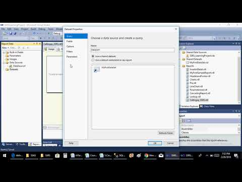 SSRS Video6-Calling Stored Procedure from SSRS