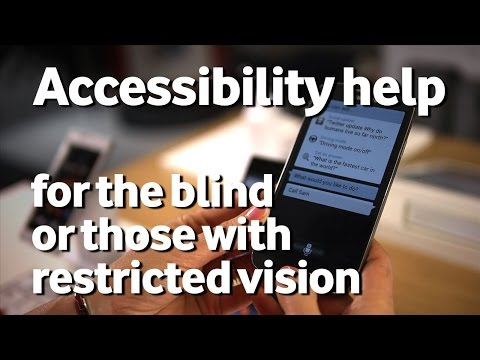 Accessibility Help - For the blind or those with restricted vision