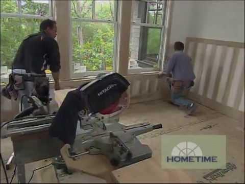 Wood and Drywall Wainscoting