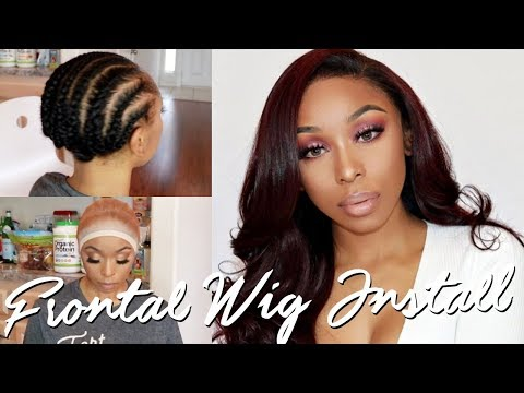 HOW TO LAY A FRONTAL WIG | STOCKING CAP, LACE GLUE, BABY HAIRS, ETC. ft. UNice