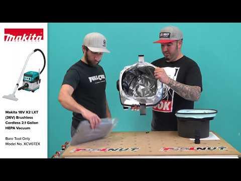 Makita 18V X2 LXT 36V Brushless Corded/Cordless Vacuum XCV04Z