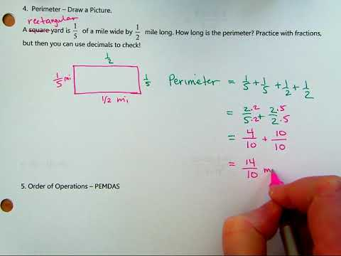 Math 60 1.2d Perimeter with fractions