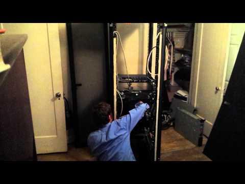 Building up a server rack timelapse