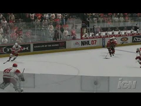 NHL 07 Xbox 360 Gameplay - Snap The Wrist
