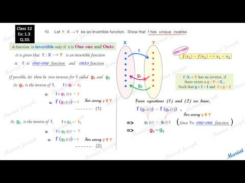 1. Inverse, fog, gof.(Class 12 Relations and Functions, NCERT Exercise 1.3  Qst 10)