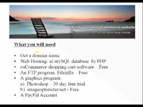 Build A Website With A Shopping Cart - What We Will Need - Video 3