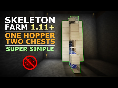 SKELETON FARM | 1.12.2 & Below | Minecraft | LOOT COLLECTOR | No Redstone