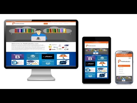 Create responsive website in bootstrap  (Hindi/Urdu)