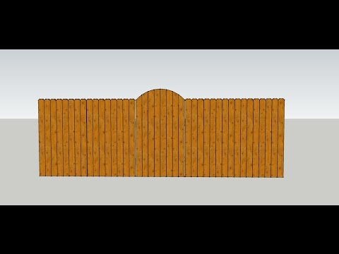 Formula For Making Curved Wood Fence Gate Top - Construction Math