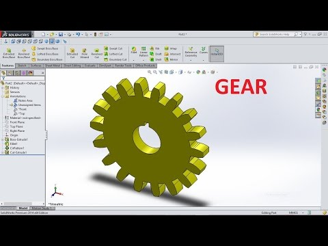 SolidWorks Tutorial How to Design Gear