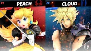 Dark.pch (peach) Vs Cloud ~ Super Smash Bros. Ultimate ~