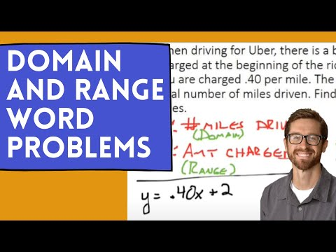 Domain and Range Word Problems
