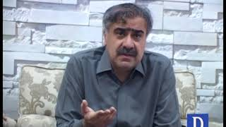 Interior minister Sohail Anwar Siyal talk to media in Larkana