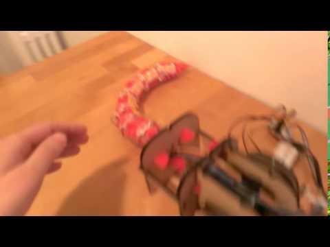 animatronic tail test with sensors