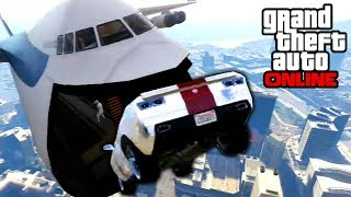 GTA 5: Online - Sick Cargo Plane Stunts & BUSTED!