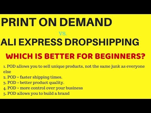Why Print on Demand (POD) is Better than Ali Express Dropshipping for New Entrepreneurs