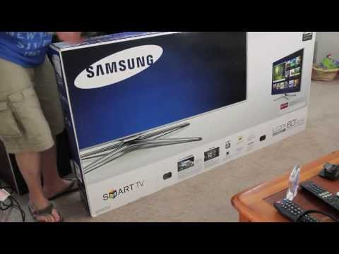 Samsung UN60F7100AF 60-Inch 3D TV Unboxing (Samsung 7100 Series)