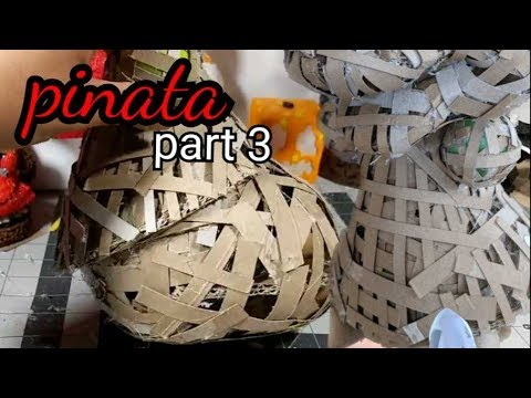 how to make a Minnie and Daisy pinata