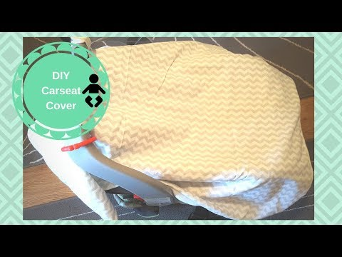 DIY Baby Carseat Canopy Cover | Super Easy Tutorial!!