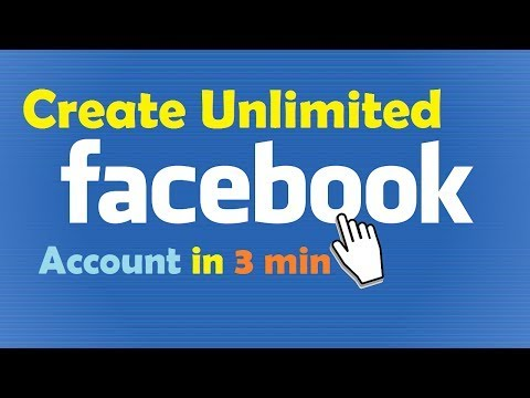 How to create Unlimited Facebook Account Without Phone Number and E-Mail in English 2017