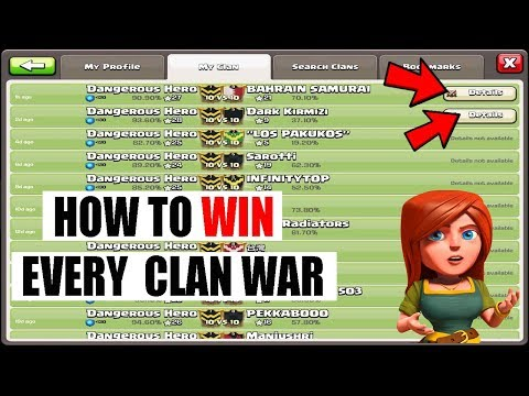 (HINDI) HOW TO WIN EVERY ALMOST CLAN WAR IN CLASH OF CLANS