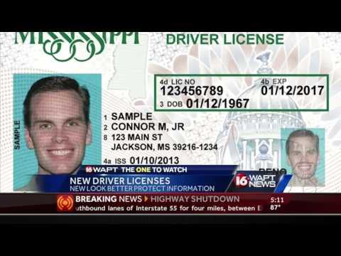 Mississippi gets new driver's license