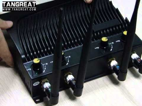 Desktop Adjustable RF Signal Jammer with Remote Control