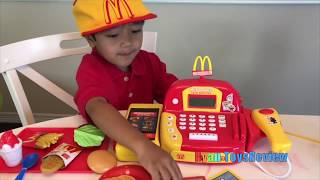 McDonalds Drive Thru Pranks Bad Kids Power Wheels Ride On Car w/ Happy Meal Spiderman Pretend Play