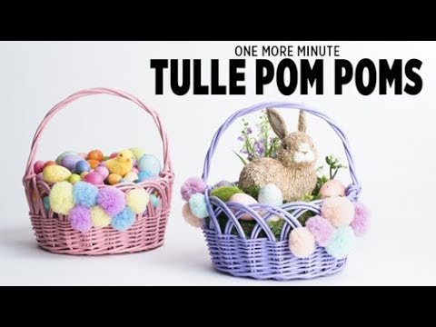 One More Minute: Tulle Pom Poms