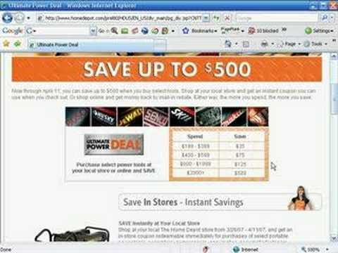 How to use HomeDepot.com coupons and promo codes