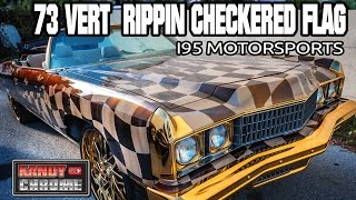 KandyonChrome: 1973 Caprice with Rippin Checkered Flag Paint! Custom Car