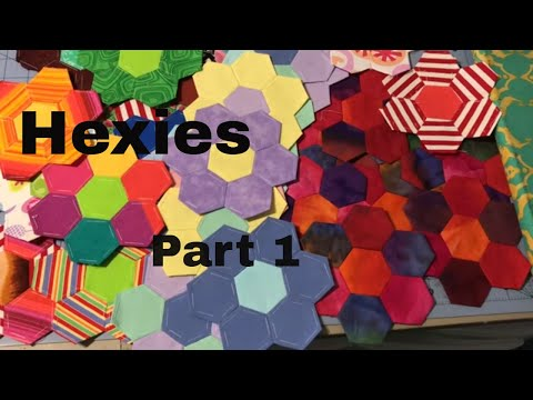 How to sew English Paper Piece Hexagons Part 1