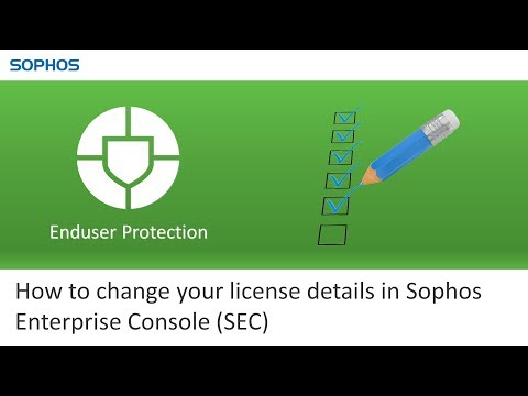 How to change your license details in Sophos Enterprise Console (SEC)