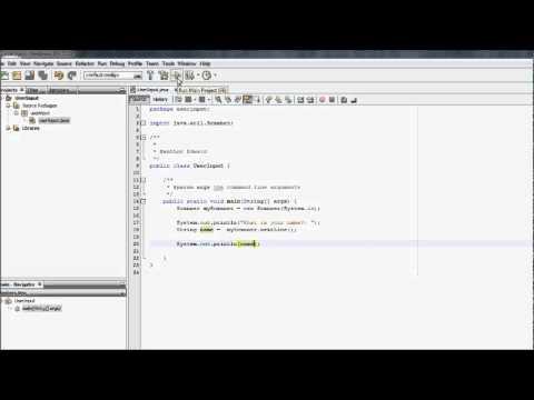NetBeans Java Tutorial - User Input #2