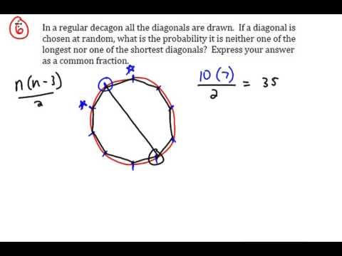 Diagonals of a Decagon - MATHCOUNTS Prep