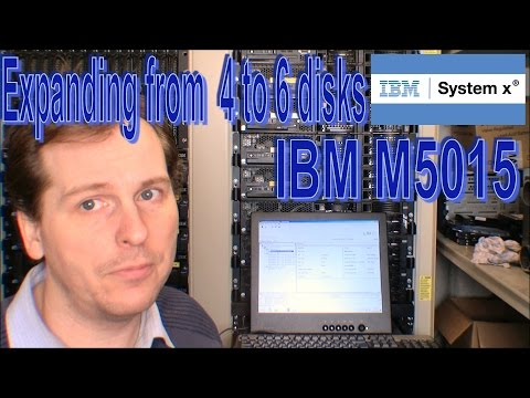 Expanding disk group, 4 to 6 disks - IBM M5015 - 153