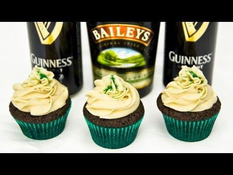 Guinness Chocolate Cupcakes w/ Bailey's Buttercream by Cookies Cupcakes and Cardio